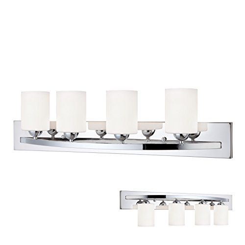 Chrome 4 Globe Vanity Bath Light Bar Interior Lighting Fixture - Chrome Vanity Bar