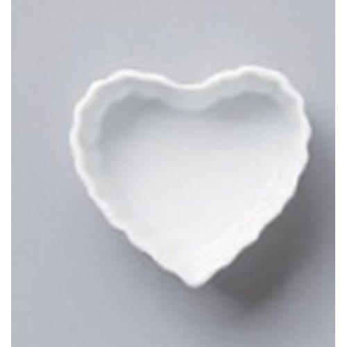 Plate utw568-12-374 [3 x 2.8 x 1.2 inch] Japanece ceramic Heart quiche SS tableware