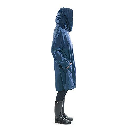 Mycra Pac Short Donatella Fashion Travel Raincoat (Extra Small, Sapphire) by Mycra Pac (Image #3)