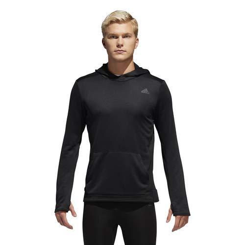 adidas Own The Run Hooded Sweatshirt, Black, Small