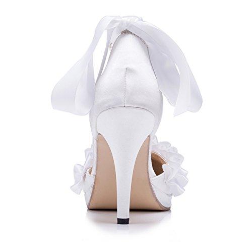 Kevin Fashion ,  Damen Modische Hochzeitsschuhe Weiß