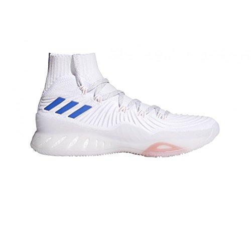 adidas Crazy Explosive 2017 Pk, Scarpe da Basket Uomo, Bianco (Schwarz Ftwwht/Blue/Lgsogr), 40.5 EU