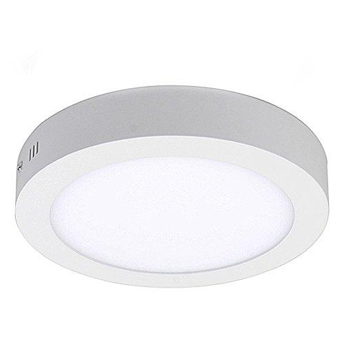 7000k Bright Light 18w Led Ceiling Light Round Flush Mount: 12W LED White Body Round Surface Mount Ceiling Panel Down