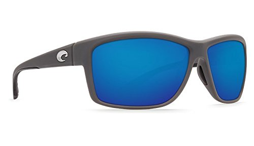 (Costa Del Mar Mag Bay Sunglasses, Matte Gray, Blue Mirror 580G Lens)