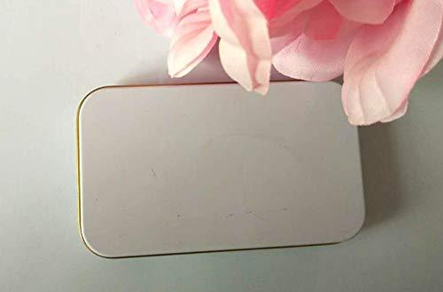 VEA-DE Storage Box multiuso Scatola di immagazzinaggio di latta rettangolare trucco gioielli (bianco)