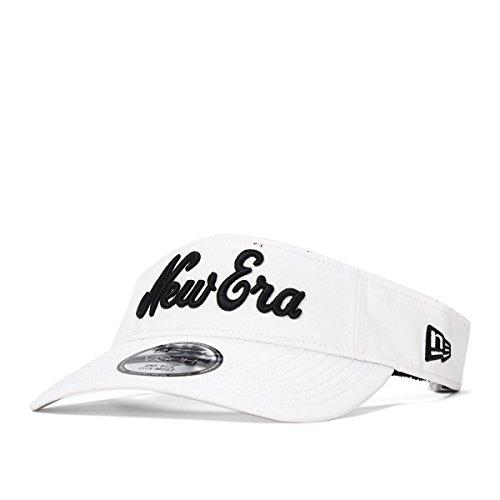 [ニューエラ] ゴルフ サンバイザー プロライト ニューエラオールドロゴ ホワイト×ブラック 11781159