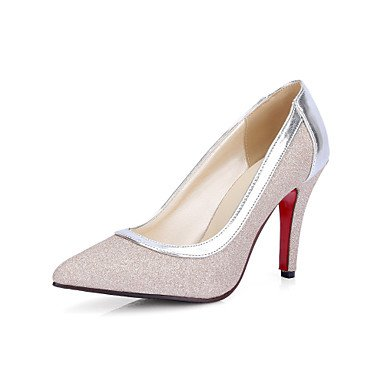 Zormey Heels Spring Summer Fall Club Shoes Pu Wedding Office &Amp; Career Dress Stiletto Heel Silver Gold US6 / EU36 / UK4 / CN36