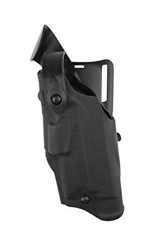 Safariland 6360 Level 3 Retention ALS Duty Holster, Mid-Ride, Black, STX Fine Tac, Glock 22 with M3, Left Hand