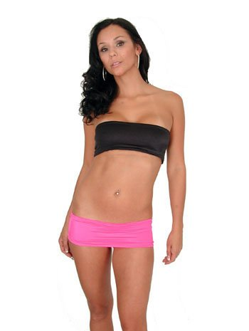 Sexy Stripper Short 4 Inch Hot Pink Mini Skirt - (Skirt Sexy Stripper)