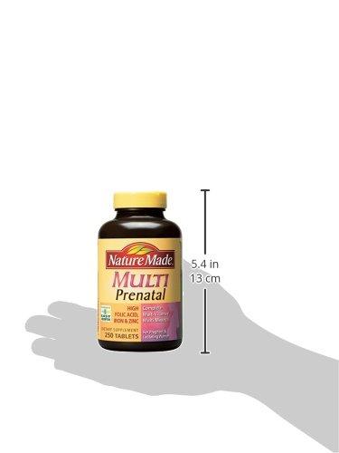 Nature Made Multi Prenatal Tablets Rich in Folic Acid, Iron & Zinc Value Size 250 Ct