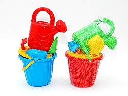 Lot 6 Set 5 parts sand toys 14cm assorted colors Quality COOLMINIPRIX®