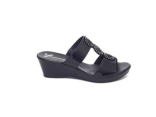Susimoda scarpa donna, modello pantofola 140824, in vernice, colore nero