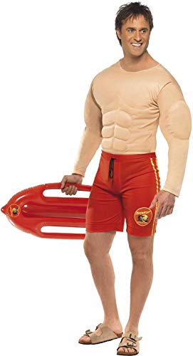 Mens Muscle Chest Baywatch Lifeguard Stag Do Night