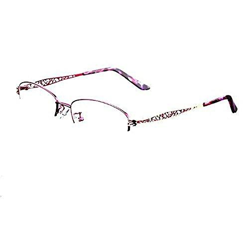 MINCL/Blue Light Blocking Progressive Multifocus Reading Glasses Womens Adjustable Vision Oval Shaped Computer Eyewear (purple, 1.0)