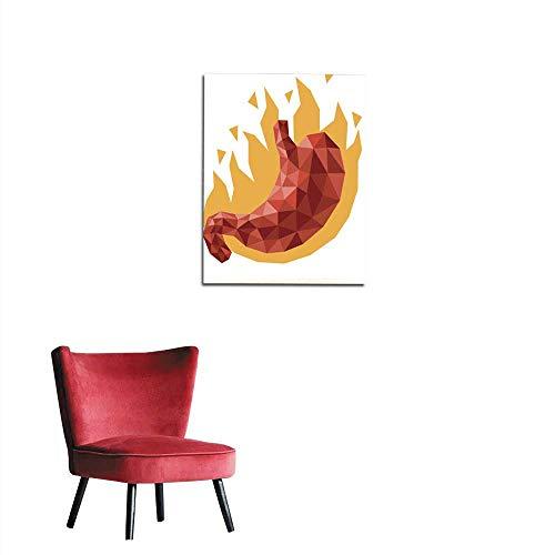 longbuyer Wallpaper Stomach Heartburn Mural 20