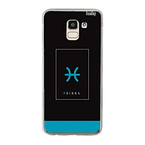 Capa Personalizada para Galaxy J6 - Signos Peixes - Husky