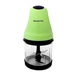 GONCHAK HUB 250/300 W Electric Food Chopper With Stainless Steel Blade and Plastic Disc Blade with Long power cord…