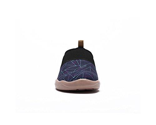 UIN Mens Pyramid Canvas Painted Slip On Shoe Dark Blue 7KlwM8