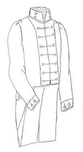 [1812 Officer's Coatee Pattern (Size-Small 34-38)] (Jane Austen Costume Museum)