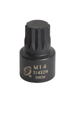 Sunex 314XZN 3/8-Inch Drive M14 Stubby Triple Square Impact Socket ()