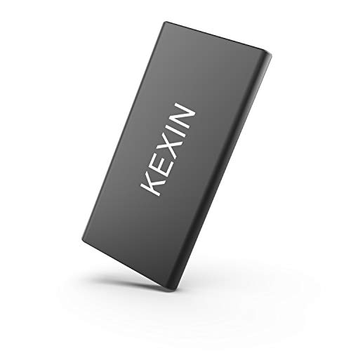 KEXIN X1pro 500 GB Portable External SSD Drive Read/Write Speed up to 500MB/s High Speed Transfer Mobile Solid State Drive USB3.1 Ultra-Slim USB-C Drive for Laptop, Tablet, PC and Android Phone, Black