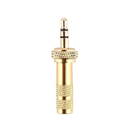 monque 3 Pole 3.5mm Jack Plug Screw Lock Gold Repair Audio Plug for Sennheiser Headphone