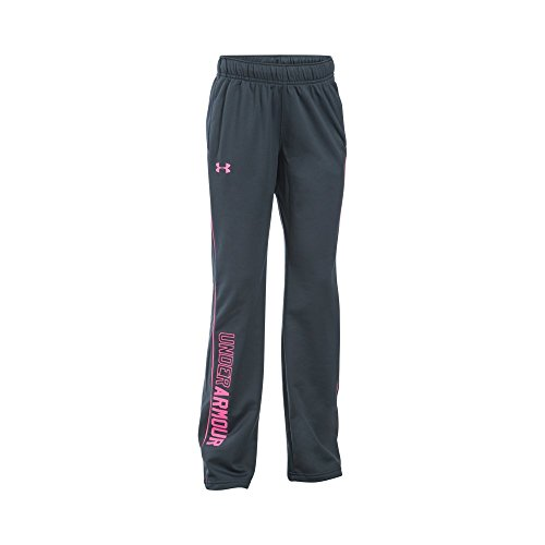 Brushed Tricot Girls Pant - Under Armour UA Rival Training Youth X-Large Stealth Gray