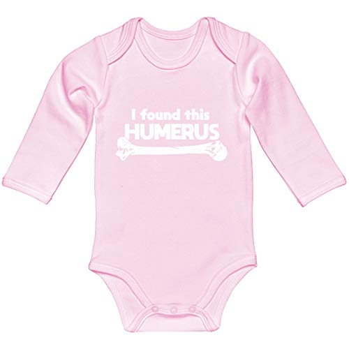 Indica Plateau Baby Romper I Found This Humerus Light Pink for 6 Months Long-Sleeve Infant Bodysuit -