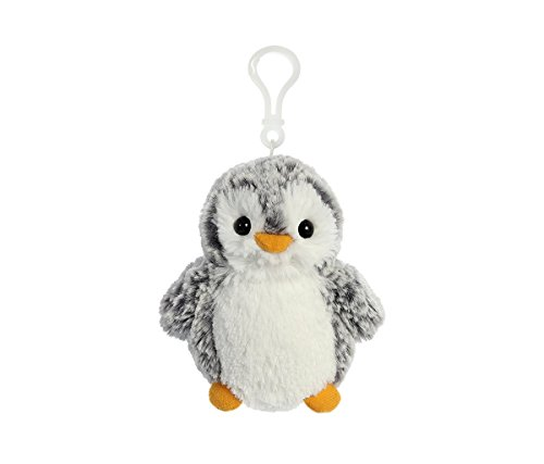 Aurora World Grey Penguin Pom Pom Plush Clip On - 4 inch - Stuffed Animal - Easily Clips to Bags, Backpacks, Keys and More - Novelty Character Fashion Accessories (Pack of 3) (Plush Backpack Aurora)