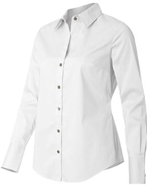Ladies' Cotton Stretch Dress Shirt. 13CK018 - XXX-Large - White
