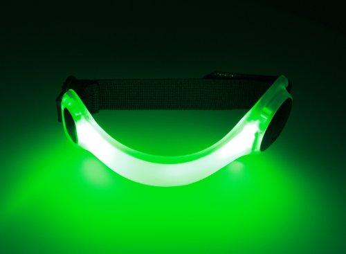 Spooti LED Leuchtband - Hell leuchtendes Licht zum Joggen, für Kinder Schulweg, Fahhrad oder als Hundehalsband (grün)