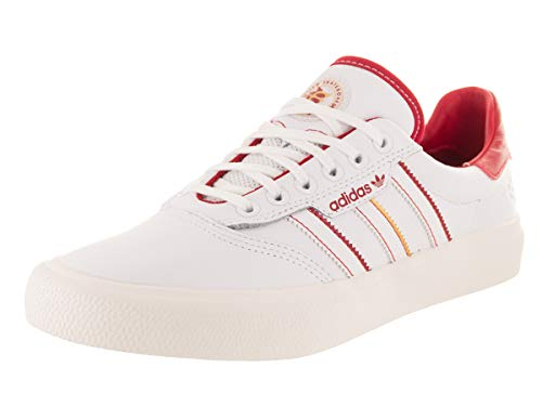 adidas 3MC x Evisen (White/Scarlet/Gold Metallic) Men's Skate Shoes-10