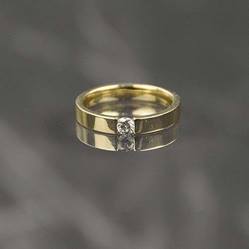 Amazon Com 14k Yellow Gold Ring Natural Diamond 0 1k