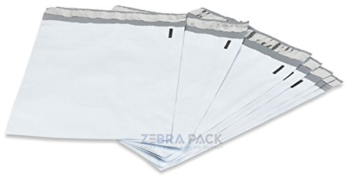 (1000 pcs 9x12 White Poly Mailers Envelopes Bags by ZebraPack)