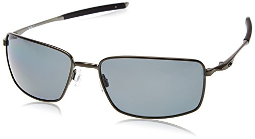 Oakley Square Wire Polarized Rectangular Sunglasses,Carbon,60 mm by Oakley