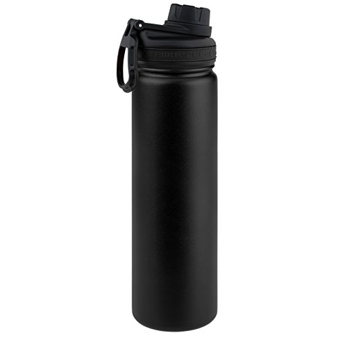 Tempercraft 22 oz Vacuum Insulated Sport Bottle | Custom Laser Engraved Options | Stainless Steel, Double-Walled, Wide Mouth