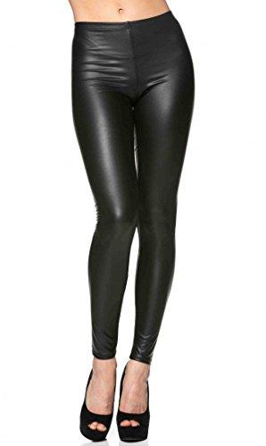 Everyday Faux Leather Leggings in Black (Plus (Black Soho Leather)