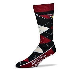 NFL Arizona Cardinals Argyle Unisex Crew Cut Socks - One Size Fits Most