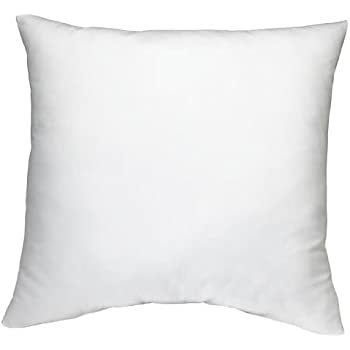 dreamhome square poly pillow insert 18 l x 18 w white home kitchen. Black Bedroom Furniture Sets. Home Design Ideas