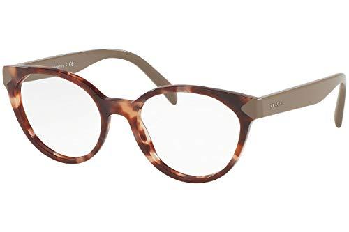 Prada PR01TV Eyeglass Frames UE01O1-53 - Spotted Brown Pink PR01TV-UE01O1-53