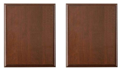 HouseGoodClassic Pack of 2 Cherry Finish Blank Wood Plaque 10-1/2