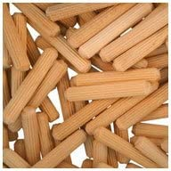 WIDGETCO 1//4 x 1-1//2 Wood Dowel Pins Multi-Groove