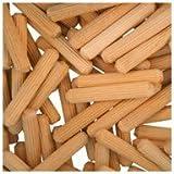 WIDGETCO 1//4 x 1-3//4 Wood Dowel Pins Multi-Groove