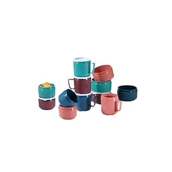 """Dinex DX4M56 Tradition Urethane Foam Insulated Mug, 3-3/8"""" Diameter x 3-1/2"""" Height, 8oz Capacity, Mauve (Case of 48)"""