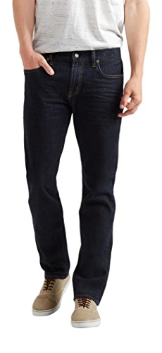 Aeropostale Men's Slim Straight Dark Wash Jean 30 Dark Wash
