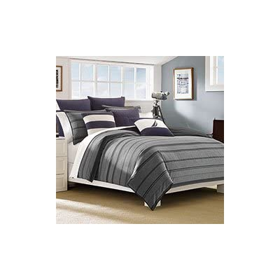 Nautica Sebec Comforter Set, King - Set includes Comforter + 2 Shams Comforter measures 104x96, shams 20x36 Comforter set is 100% Cotton - comforter-sets, bedroom-sheets-comforters, bedroom - 313zVMlTYOL. SS400  -