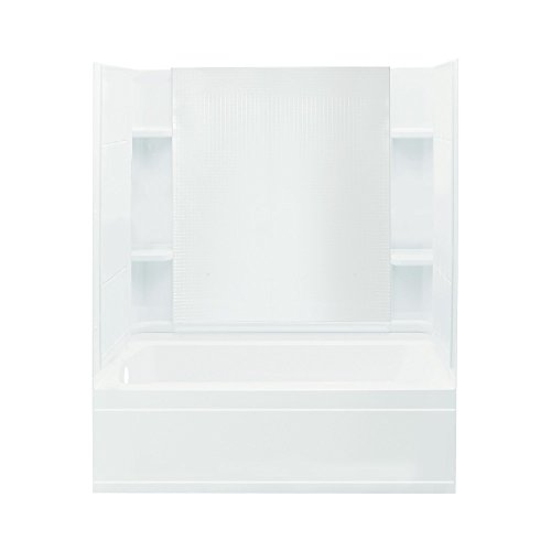 STERLING 71150110-0 Accord Bath and Shower Kit, 60-Inch x 32-Inch x 74-Inch, Left-Hand, White