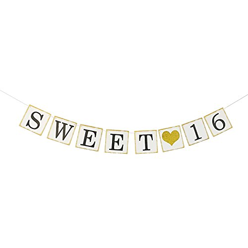 Sweet-16-Birthday-Banner-Gold-Glitter--Sweet-Sixteen-Decorations-Party-Favors-Supplies-Gifts-Themes-and-Ideas-Vintage-Happy-Birthday-Decorations