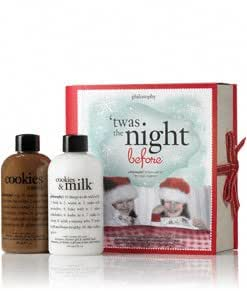 philosophy | twas the night before | cookies and milk shower gel duo