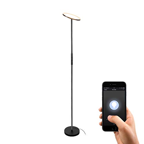 LED Torchiere Floor Lamp,TECKIN Wifi Smart Uplight Dimmable